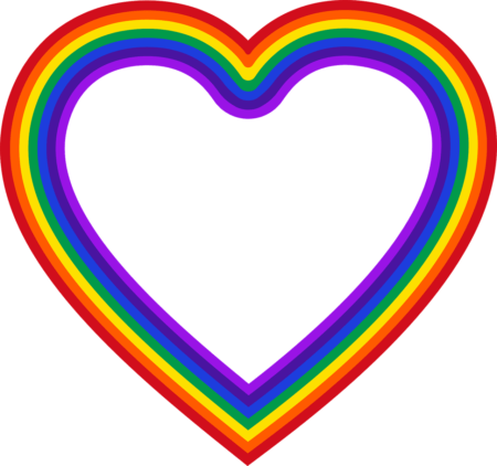 Heart Rainbow Frame Love Harmony  - GDJ / Pixabay