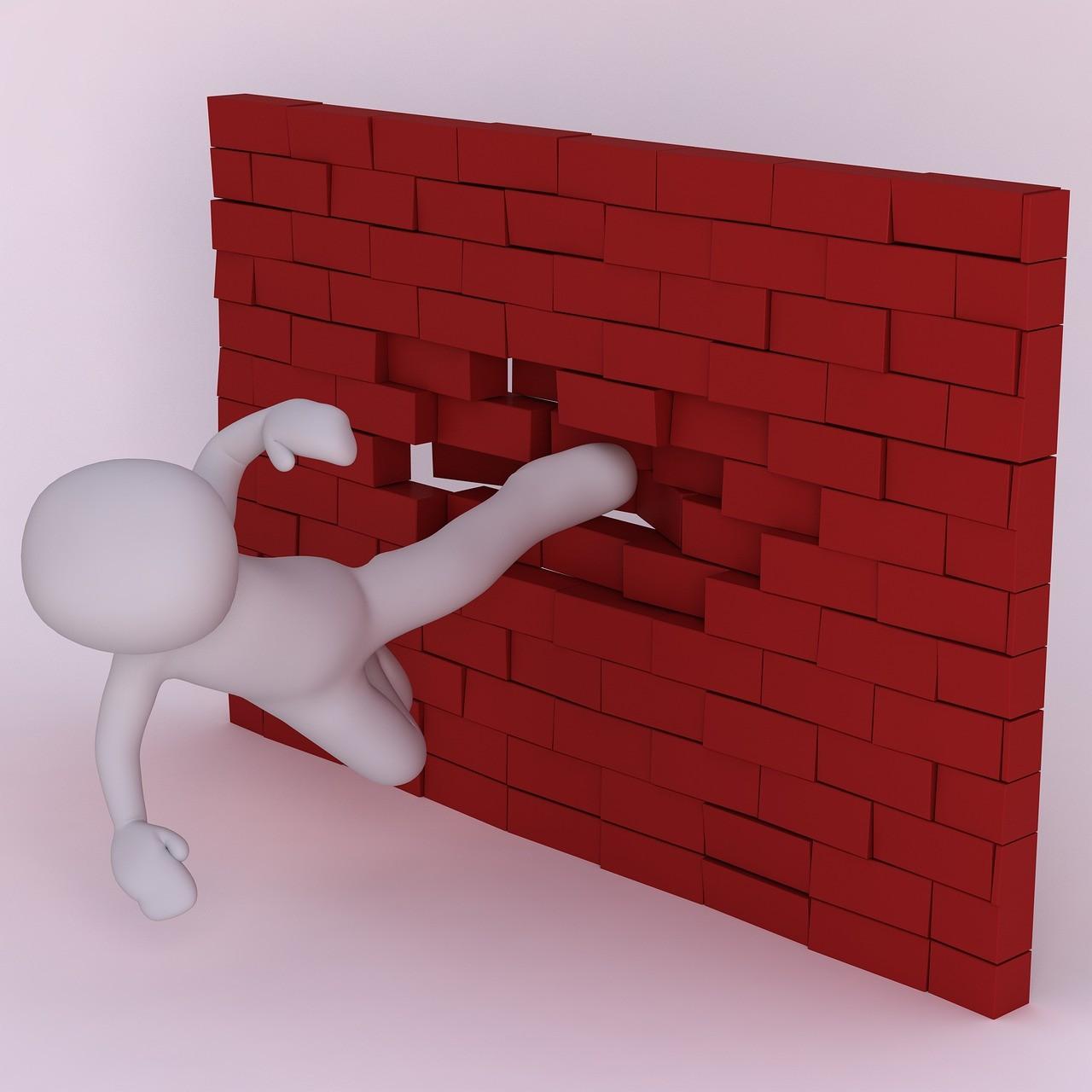 Wall Bricks Kick Angry Man D  - Peggy_Marco / Pixabay